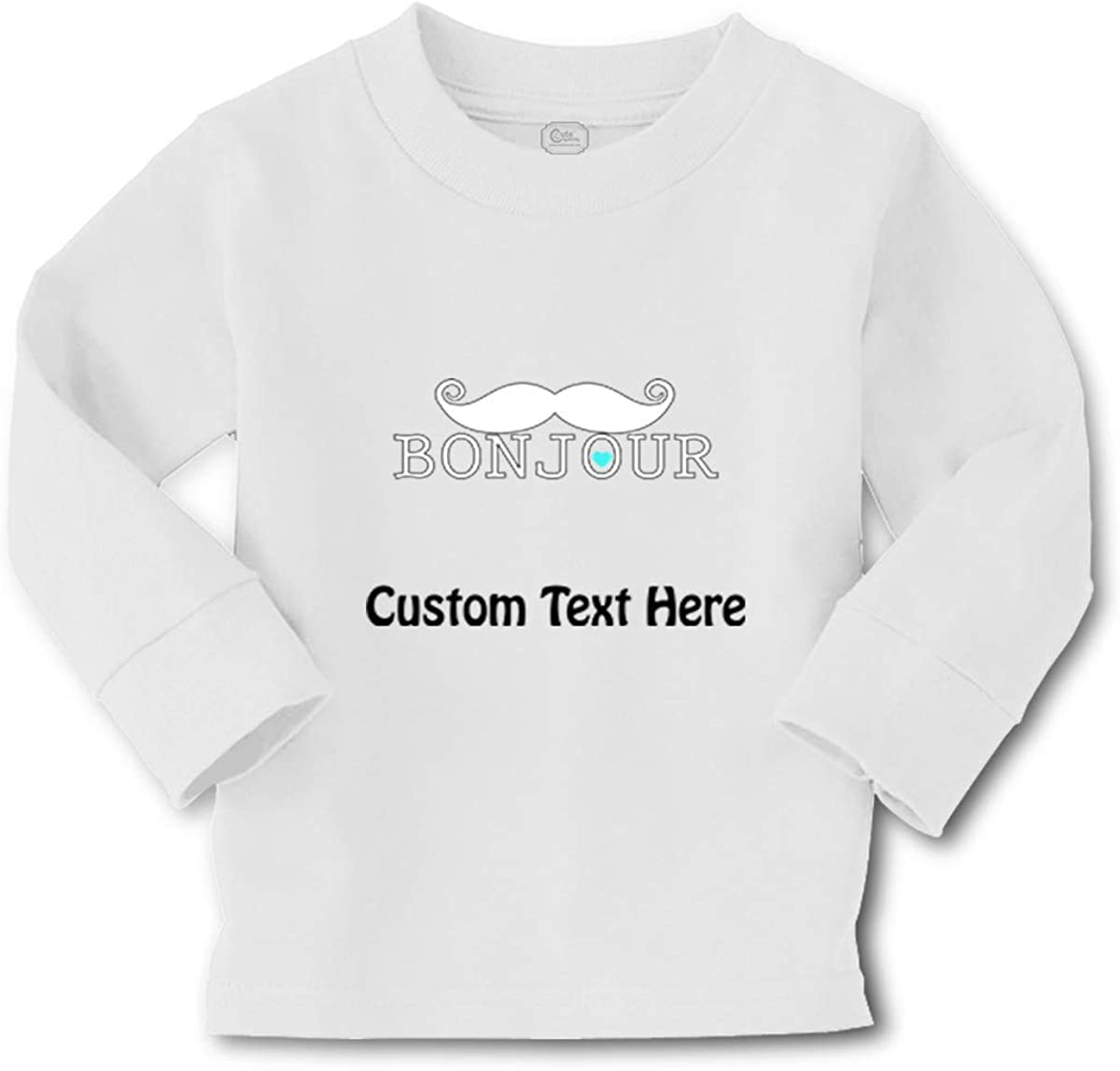 Kids Long Sleeve T Shirt Bonjour French France Cotton Boy & Girl Clothes