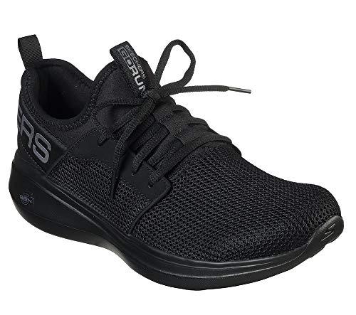 Skechers Men's GO RUN FAST Trainers, Black (Black Textile/Trim BBK), 9.5 (44 EU)