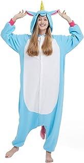SAMGU Einhorn Adult Pyjama Cosplay Tier Onesie Body Nachtwä