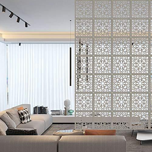 ZGoEC 12-tlg Hängende Paravant Bildschirme Raumteiler DIY Raum Holzteiler für Zuhause, Küche, Büro, Bar, Hoteldekoration