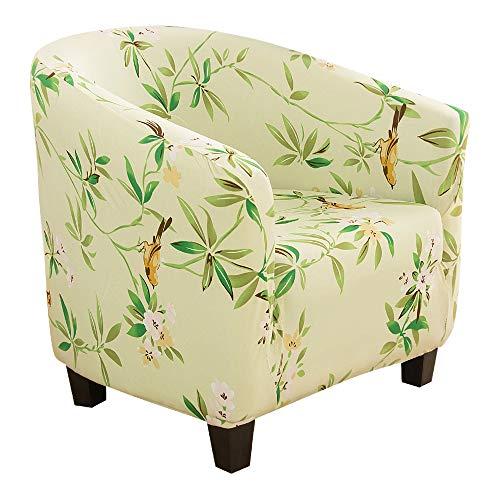 Cysincos - Funda de sillón convertible con estampado de Chesterfield Tub Chair - Funda de sofá extensible elástica modelo Tullsta