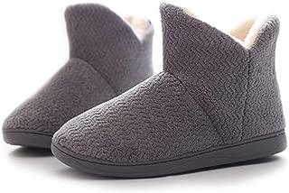 Women's Woven Bootie Slippers, Fluffy Plush Memory Fleece Plush Plush Lining Slip-On Comfort Cotton Slippers, Warm House Shoes