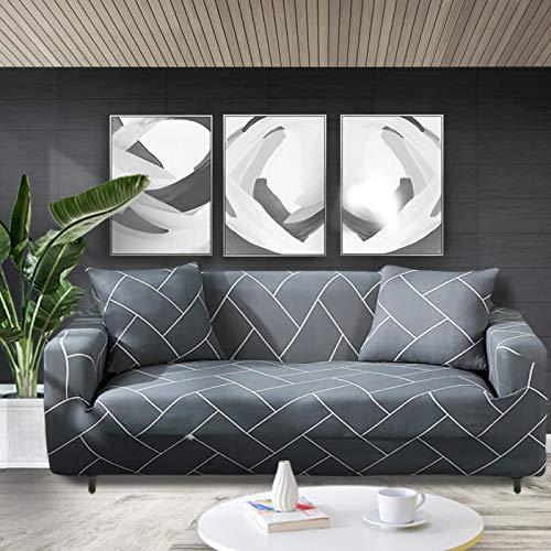 ASCV Funda de sofá elástica con Estampado Floral Fundas de sofá Fundas de sofá para Sala de Estar Sofá de Esquina Toalla Funda de sofá A9 4 plazas