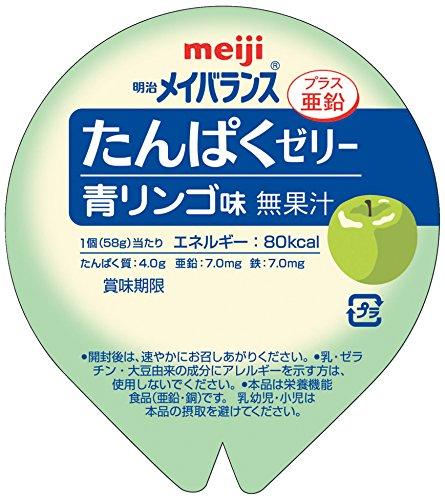 メイバランス たんぱくゼリー青りんご味58g×24個(1ケース)