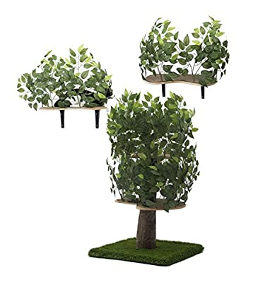 Realistic Cat Tree Wall Bundle With Leaves