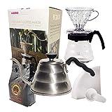 Kit Café Completo Novo Kit Hario 700ml e Filtro Hario 02 40 Uni + Chaleira Hario Buono 1L + Café Gourmet 250g