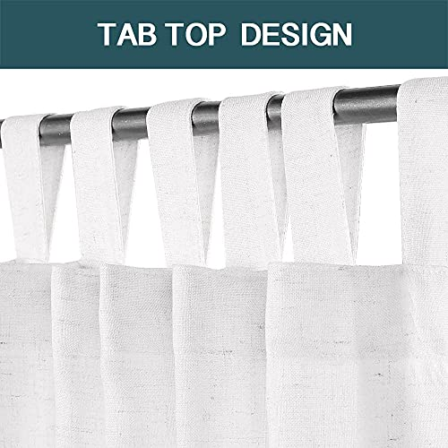 Tab Heading curtians. 84 Inches, White