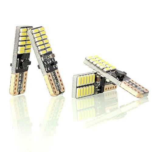 Neuftech 4x T10 W5W 4014 SMD 24 LED Veilleuse Canbus Sans Erreur - Blanc