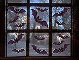 UMIPUBO Pipistrelli Halloween Adesivi Elettricità Statica Pipistrelli Halloween Sticker Accessori Halloween Finestra Adesivi per Halloween Party Decorazione (Halloween)