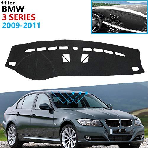 KSUVR Esteras del Panel de Instrumentos del Coche esteras solares de protección Solar decoración del Coche, para BMW Serie 3 E90 2009 2010 2011