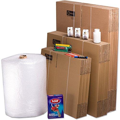 TeleCajas | Pack Mudanza (Cajas de cartón, plástico Burbujas, precinto, etc) con el Embalaje para una mudanza de casa (Pack MUDANZA Couple)