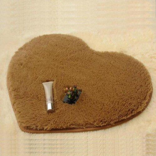 KOOCO 40 X 30 cm Teppich Herz kein Schlupf Bape Teppich Teppiche für Wohnzimmer Schlafzimmer Teppiche Mat Tapis komplet Dormitorio Tapete para Sala, Kaffee