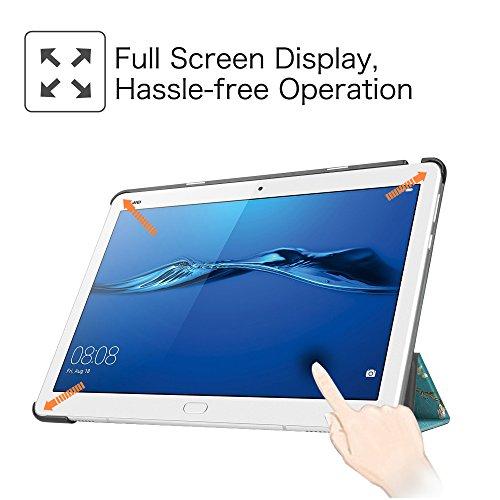 Fintie Huawei Mediapad M3 Lite 10 Hülle - Ultra Dünn Superleicht SlimShell Case Cover Schutzhülle Etui Tasche mit Zwei Einstellbarem Standfunktion für Huawei Mediapad M3 Lite 10 Zoll, Mandelblüten - 4