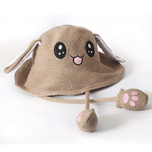 JSVER Hüte mit Ohren Sonnenhüte Bunny Hat Lustige Kaninchen Hutes SonnenhutKneifen Kaninchen Ohren Airbag Beweglich Hutes Niedlichen Hut/Animal Hat als Geschenk für Sommer