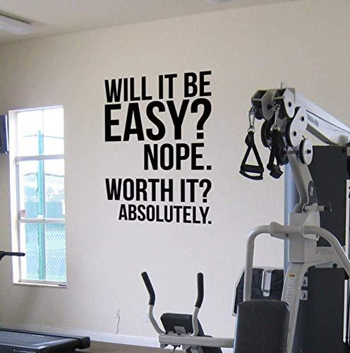 Absolut Fitness Motivation Wand Zitate Poster Aufkleber Große Turnhalle Kettlebell Crossfit Boxen Dekor Buchstaben Wandaufkleber Z801 42 * 60Cm