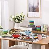 Vancasso Tafelservice Porzellan, Tafelservice bunt, Macaron 48 teilig Geschirrset, mit je 12 Speiseteller, Dessertteller, Müslischalen und Kaffeebecher für 12 Personen - 8