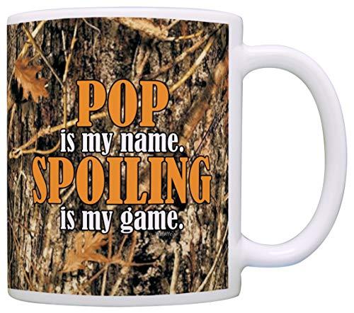 Tazza Mug Tazza Mug Woodland Camo Pop è il mio nome Spoiling è il mio gioco Grandpa Gift Coffee Mug Tea Cup Camo 330Ml