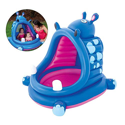 Zonnescherm Opblaasbaar Zwembaden, Baby Zwembad, Hippo Shape Sand Pool Bad Ocean Ball Zwembaden, Vanaf 3 Jaar