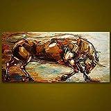 OilYY Pinturas al óleo pintadas a Mano Gran Pintado A Mano Abstracto Animal Pintura Al Óleo Cuchillo Lucha Toro Lienzo Pinturas Decoración Moderna Pared Arte Cuadros para Sala De Estar
