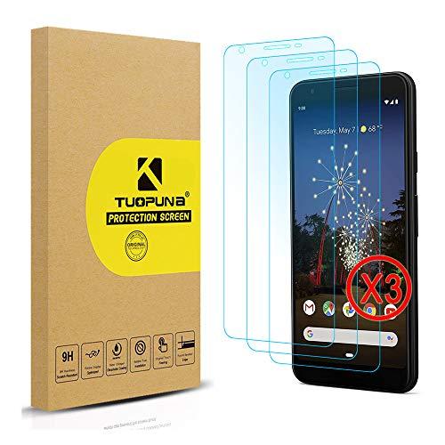 [3 Packs] Tuopuna For Google Pixel 3A XL Schutzfolie, 9H Festigkeit (die Hälfte Deckung) Gehärtetes panzerglas, Ultra-klar Bildschirmschutzfolie for Google Pixel 3A XL