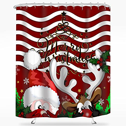 Santa and Rudolph Curtain