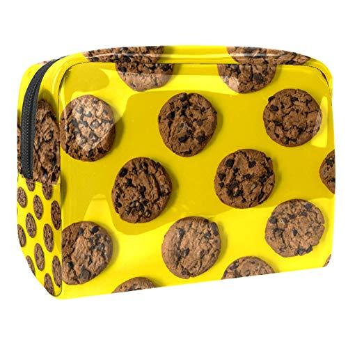 Reise-Make-up-Tasche Große Kosmetiktasche,Gebackene Schokoladenplätzchen ,Make-up-Tasche Organizer für Frauen und Mädchen