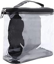 Liukouu Transparent PVC Travel Organizer Clear Makeup Cosmetic Bag Beauty Case Wash Bag(Black)