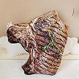 siqiwl Plüschtier Simulation Lebensmittel Form Plüsch Kissen Kreative Fleisch Türkei Rindfleisch...