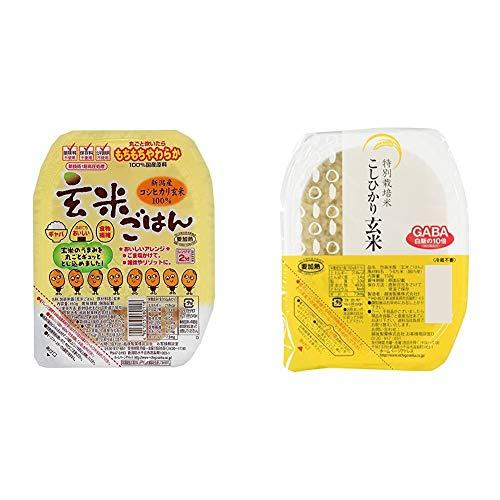 【セット買い】越後製菓 玄米ごはん 150g×12個 & 【Amazon.co.jp限定】越後製菓 特別栽培米こしひかり玄米 150g×12個