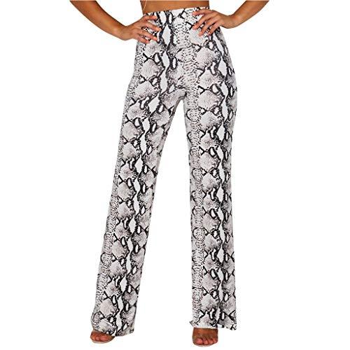 Lulupi Damen Enge Hose mit Schlangenmuster Hoher Taille Leggings Hose Große Größen Schlangen-Hose Strumpfhose Mittlere Taille Yoga Hosen