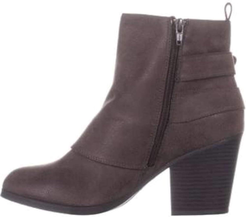 AR35 purpleh High Ankle Block Heel Boots, Black