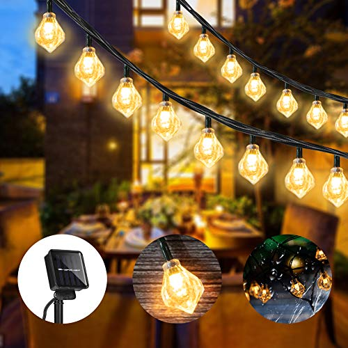 KKAAyueqin Diamond Solar String Lights, 6M/19.7FT, 30 Lights, Forever Love, Romantic Wedding Christmas Birthday Holiday Room Courtyard Decorative LED Lights, Warm White