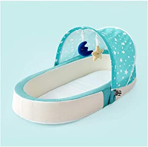 Crib Travel Portable Polyester Material Foldable Multi-Function Anti-Pressure Bionic Removable And Washable D