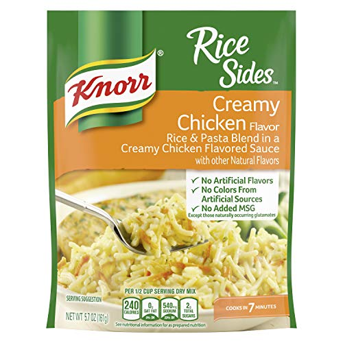 Knorr Rice Sides For A Tasty Rice Side Dish Creamy Chicken No Artificial Flavors 5.7 Oz, Pack of 8