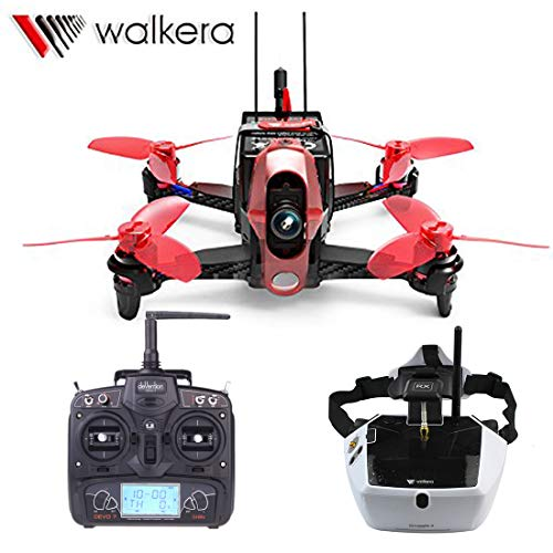 Walkera Rodeo 110 Racing Drone with DEVO 7 Remote Controller and FPV Goggle4 Glasses