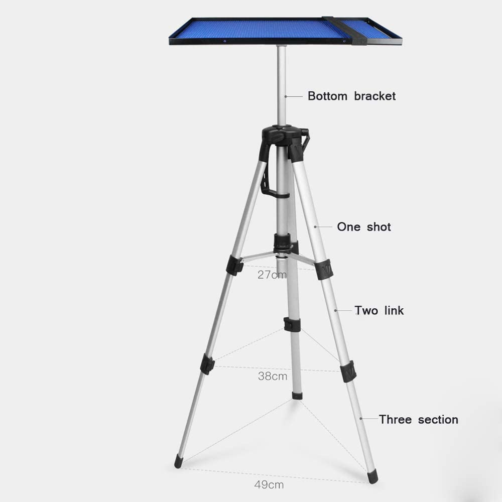 Adjustable Laptop Stand//Multifunctional Stand//Computer Stand//Height Adjustable 43-115CM,Black ZXGHS Projector Tripod Aluminum Tripod