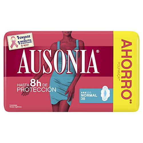 Ausonia Normal Protegeslips 38 Unidades, Sistema No Olor, Máxima Protección Diaria ⭐