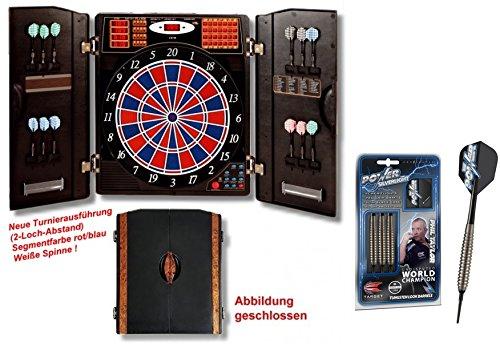 Elektronische Dartscheibe CB 90 Turnierausführung + Target Phil Taylor Power Silverlight Softdarts