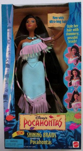 Disney's Pocahontas Shining Braids Doll by Mattel