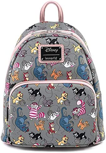 Loungefly Disney Cats Faux Leather Womens Double Strap Shoulder Bag Purse product image