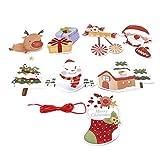 Hengxing Feliz Navidad Banner Bunting Paper Garland Bandera Colgante para Vacaciones Cumpleaños Año Nuevo,Muñeco de Nieve + Anciano + Casa + Piruleta