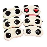 Freessom 2pcs Masque de Sommeil Yeux Mignon Fantaisie Motif Panda Peluche Occultant...