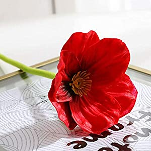 Artificial and Dried Flower Flower Decoration Simulation of Mini Poppy Home Decorations Fake Flower Bouquet Home Decoration Accessories