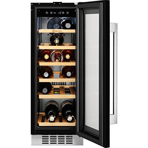 Electrolux ERW0673AOA Weinkühler, integriert, Schwarz, Weinkühler, Kompressor, A – Weinkühlschrank (integriert, schwarz, schwarz, 6 Regale, 1 Türen) Schwarz