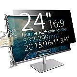 Xianan 24' (16:9) Blickschutzfolie für Breitbild Monitor - 20,94x11,77' / 532x299mm Sichtschutzfolie Privacy Filter Displayfilter PC Blickschutzfilter