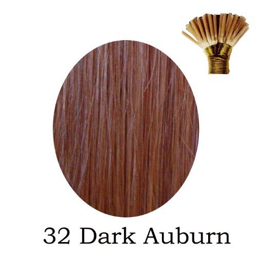 50,8 cm pré-collé Stick Tip indiens Remy # 32 Dark Auburn