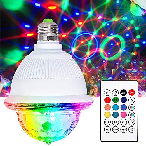LED Discokugel, LETOUR Ddiscokugel musikgesteuert E26 / E27 Schraubfassung Bluetooth Lautsprecher Sound Aktiviert RGB LED Party Lampe Rorate mit Fernbedienung für Weihnachten, Kinderzimmer, Party