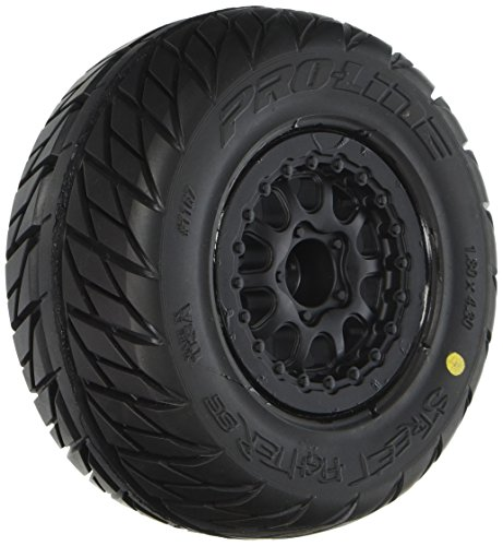 Pro-Line Racing 1167-17 Street Fighter SC 2.2'/3.0' Tires Mounted on Renegade Black Wheels