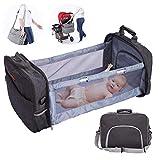 Happt Baby Wickelrucksack, Tragbare Windeltasche Baby Reisetasche Faltbare Windel Wickeltischauflagen Für Mama Papa Baby