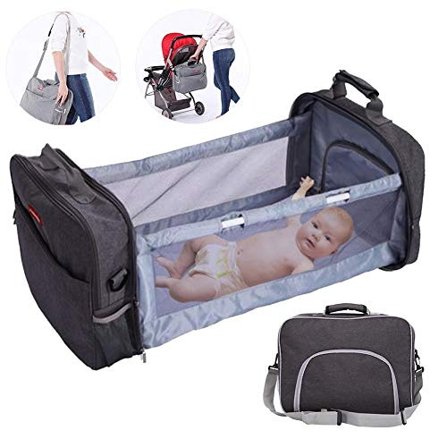 oshidede Portable Multifunctional Lightweight Waterproof Mommy Bag With Folding Baby Bed - Crossbody Folding Maternity Bag For Diaper